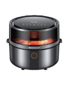 Smart Air Fryer,Digital Touchscreen,5.5L large capacity,3D air blast Roasting & Keep Warm ,120° Visual window, Accurate temperature control and timing,Memory automatic power off,1500W