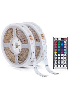 WBM Smart LED Strip Lights, 32.8FT RGB LED Lights with 44 Keys Remote Control, Colors and DIY Mode Color Changing LED Lights, Easy Installation Light Strip forHouse, Bedroom, Ceiling, Kitchen,