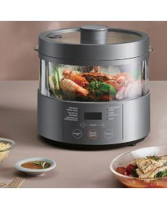 WBM Smart Rice Cooker, Cooking Visualization,Steam Heating Technology,Built-In Scale & Auto Steam Release, Multi-Functional w/ 300+ 1 Key Low Sugar Rice lowers the sugar by 49%,Healthy and delicious steamed