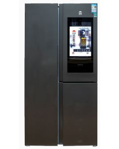 Black Stainless Door Refrigerator