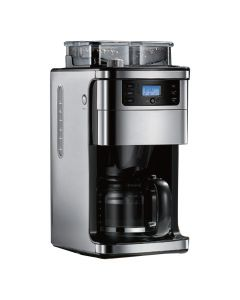 Smart Coffee Machine Works with Alexa Smart Coffee Maker, Programmable, 12 Cup Capacity, Black and Stainless Steel– A Certified for Humans Device